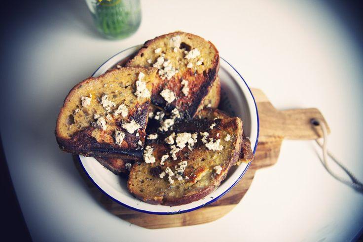 pain perdu feta miel