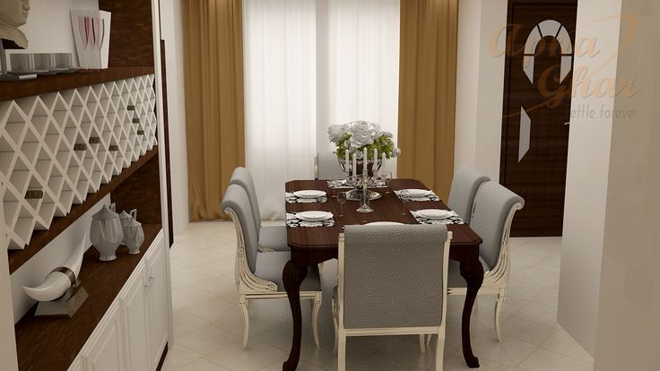 Cool dining room design ideas that create comfortable, stylish spaces for dinner parties or everyday dinners.   Explore more at: http://www.apnaghar.co.in/ Call Toll-Free No.- 1800-102-9440 Email: support@apnaghar.co.in #diningroom #interiors #design