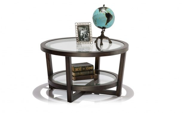 Coco Republic Gramercy Round Coffee Table - Charcoal