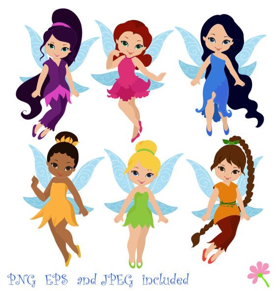 Fairies Digital ClipArt / Fairy Digital Clip art / Cute Fairies For Personal and commercial use/ Instant Download
