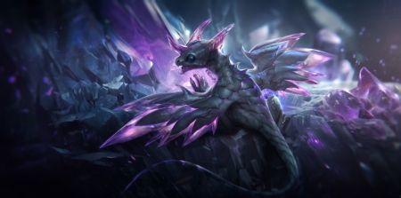 Dragon - elméleti, fantasy, sárkány, állat, szárnyak, szép, kristályok, szép, művészet, szép, barlang, lila