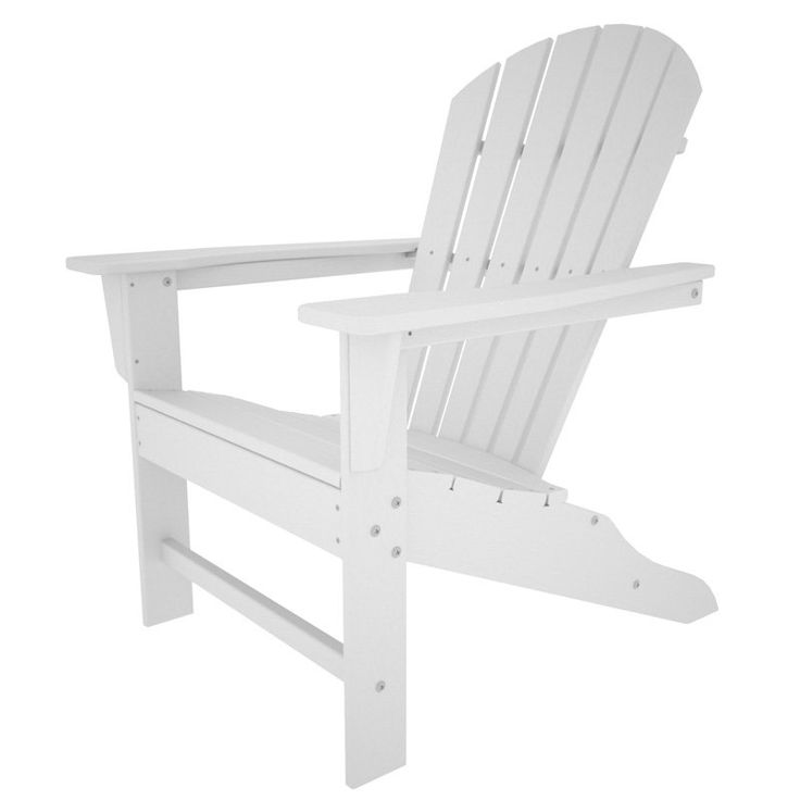 Outdoor POLYWOOD® South Beach Recycled Plastic Adirondack Chair White    SBA15WH