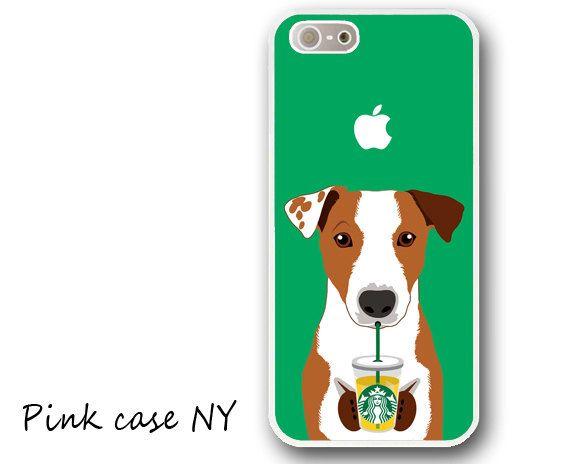 iPhone 6/6 plus Case, iPhone 5/5S/5C Case, iphone 4/4S Case - I love Starbucks - Jack Russell Terrier