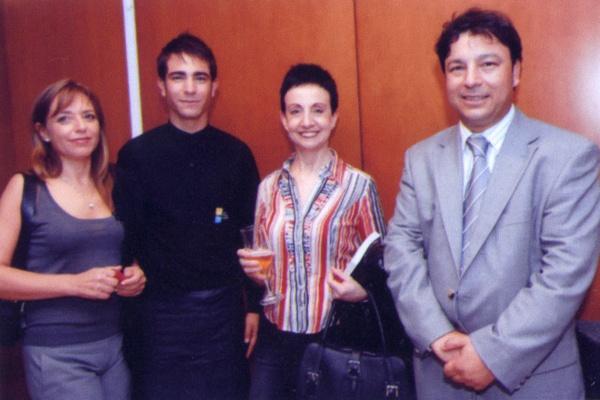 Con Carme Ruscalleda en una presentación