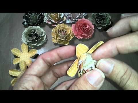 My paper flowers tuto - YouTube