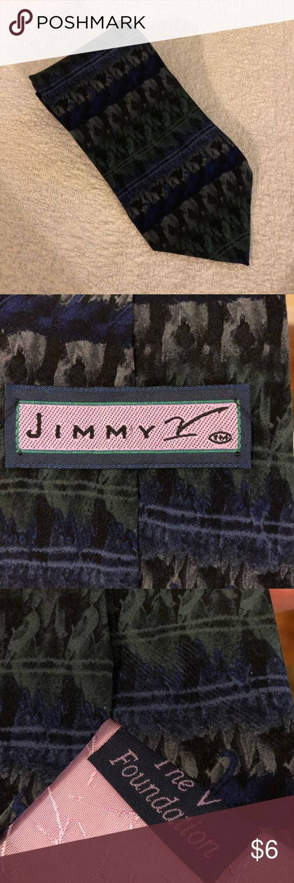 Jimmy V Foundation Navy & Grey Pattern Silk Tie Jimmy V Foundation Navy Blue and Grey Pattern Silk Necktie!! Great condition! Please make reasonable offers and bundle! Ask questions! Accessories Ties