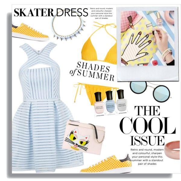 Cutout Skater Dress Outfit Idea 2017