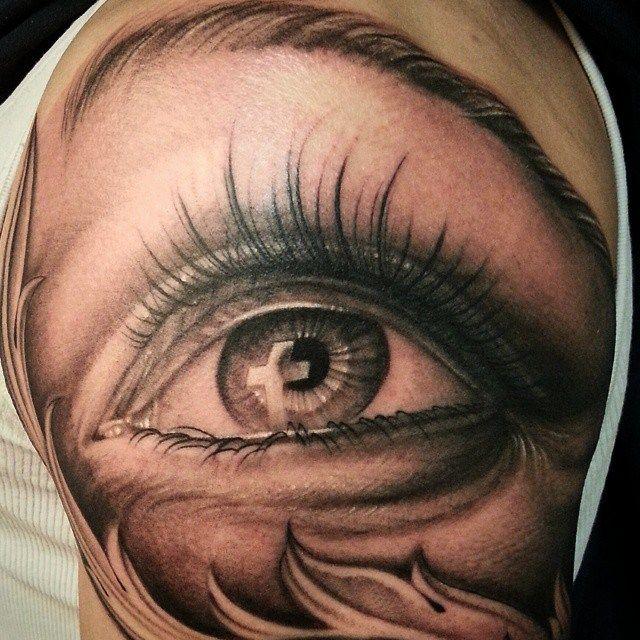Chronic Ink Tattoo Toronto Tattoo Eye With Cross