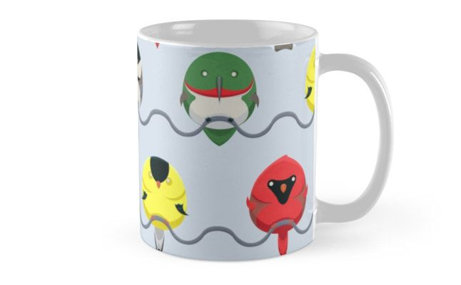 Cartoon Birdy Pattern by AnMGoug on Redbubble. #birds #mug #pattern