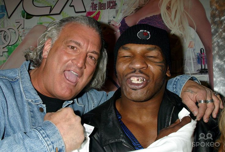 Mike Tyson and Joey Buttafuoco at the Avn Adult Entertainment Expo at the Sands Expo Center in Las Vegas, Nevada 01/10/04 Photo by Clinton W...