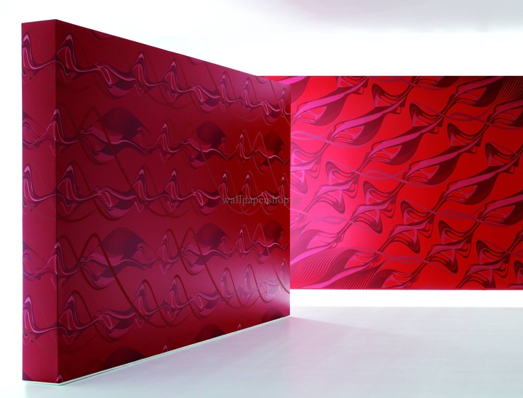 Wallpapers :: Modern :: Zaha Hadid Swirl Red No 1324 - WallpaperShop