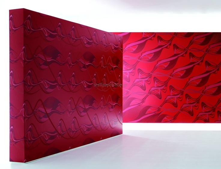Wallpapers :: Modern :: Zaha Hadid Swirl Red No 1324 - WallpaperShop
