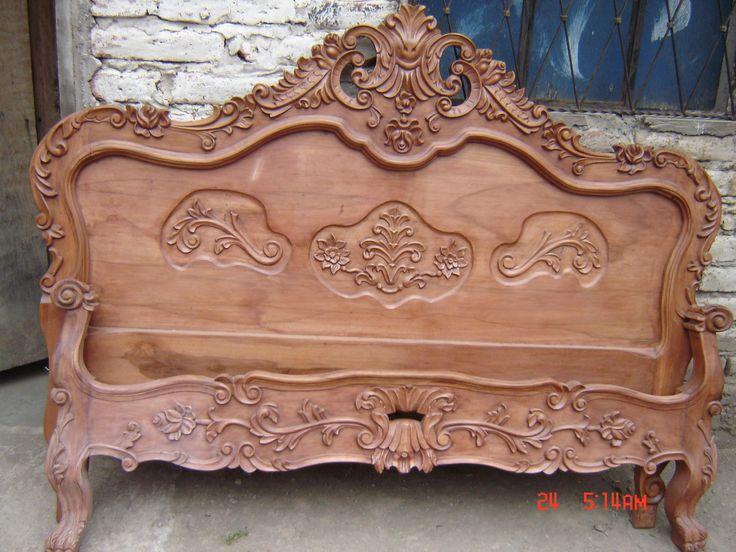 Mejores 56 im genes de camas talladas en pinterest camas for Muebles tallados en madera
