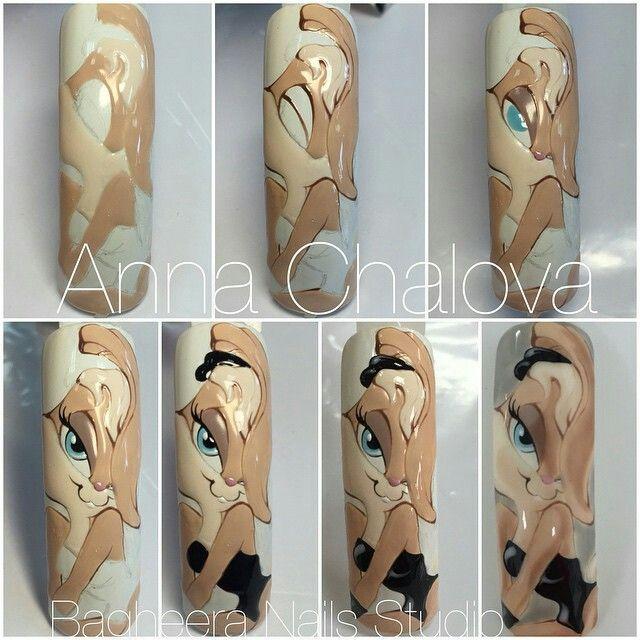 Anna Chalova step by step nails
