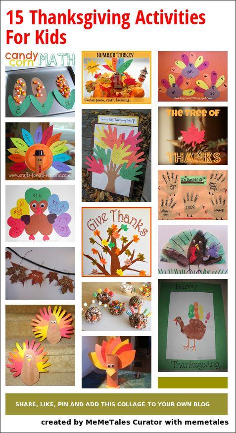 15 Thanksgiving Activities For Kids @Kelsey Myers Myers Jackson  @Casey Dalene Dalene Newth