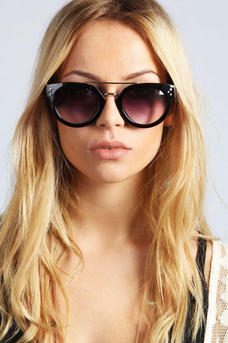 Rosie Metal Bridge Detail Sunglasses at boohoo.com