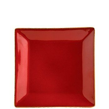 "Vietri Rosso Vecchio Square Salad Plate by VIETRI. $38.00. Dimensions: 8.5""Sq. Brand New - First Quality. Charming, distinct shapes and exposed terra cotta edges characterize the Rosso Vecchio collection. This rich red salad plate can be mixed in with the circular plates to add contrast and create an eclectic table! Handmade in Tuscany of terra cotta. Dishwasher safe and microwavable."