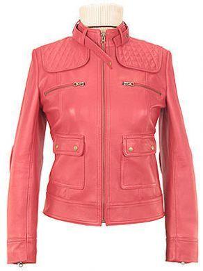 Fancy #Motorrad #Damen #Lederjacke aus pink #Lamm #Nappa  handgenäht.