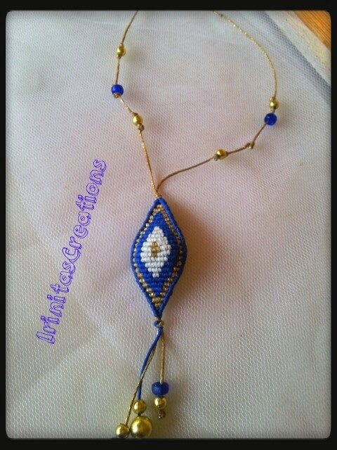 Evil eye necklace/Evil eye macrame/Macrame by IrinitasCreations