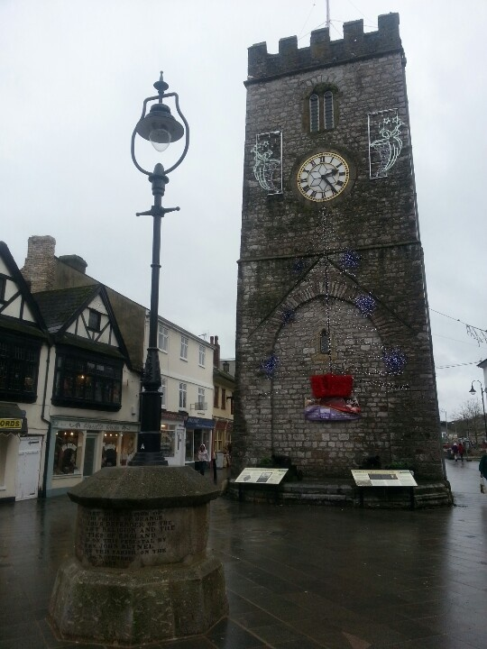 The Clock Tower Newton Abbot -  Ilived in NA for 14 yrs and grew up there - always remember the clock tower.