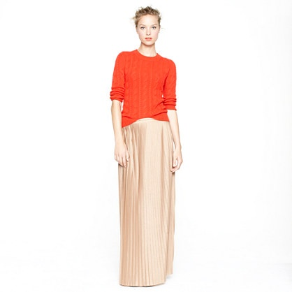 Collection pleated maxiskirt/
