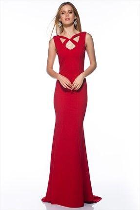 Kırmızı Elbise MLWSS143422 Milla by trendyol   Trendyol