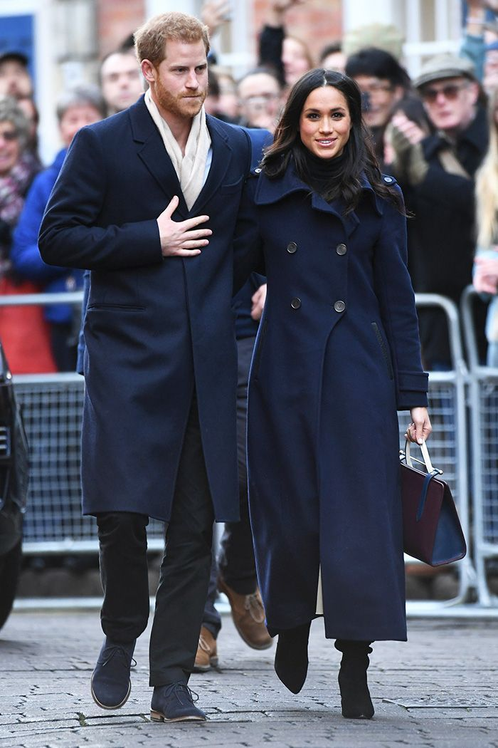 Meghan Markle and Prince Harry just made their first public appearance together. See the boot trend she chose for it here.