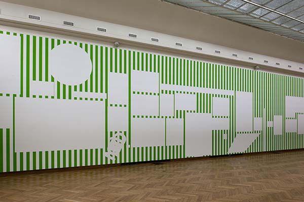 "Daniel Buren ""A Fresco"" at Bozar, Bruxelles, 2016"