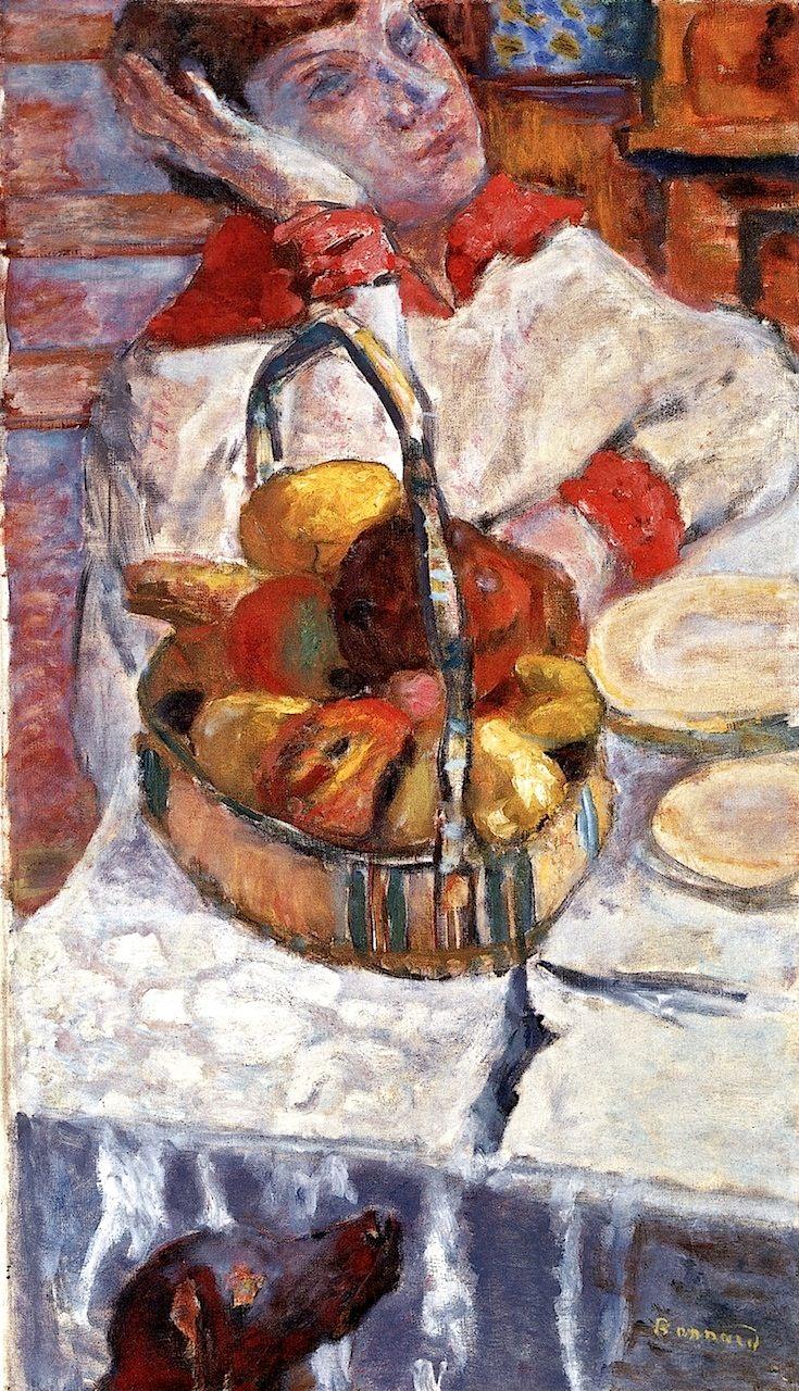 Woman with Basket of Fruit Pierre Bonnard - circa 1915-1926