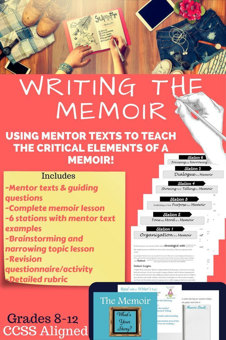 Writing the memoir with secondary students! #memoirwriting #memoirassignment teaching the memoir #memoir