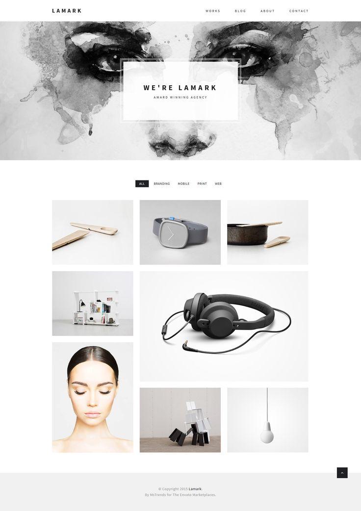 Lamark - Minimal Agency Portfolio Theme #webdesign Live Demo & Download: http://themeforest.net/item/lamark-minimal-agency-portfolio-theme/13397933?ref=ksioks