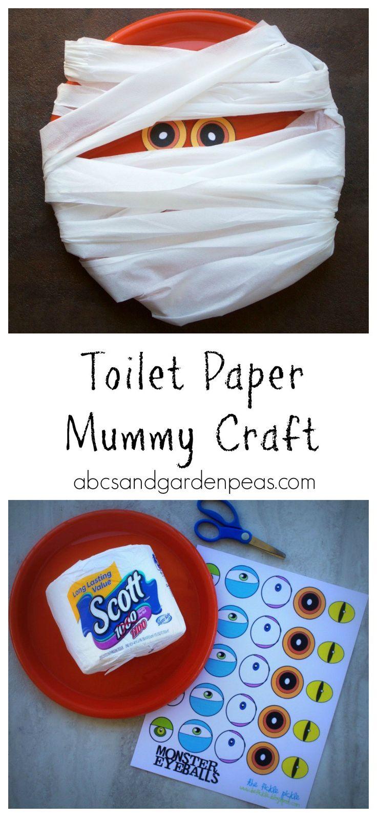 Got Extra? Make Halloween Toilet Paper Crafts!