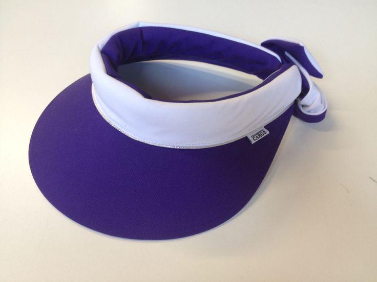Precious cargo Regular brim visor in purple/white with silver piping