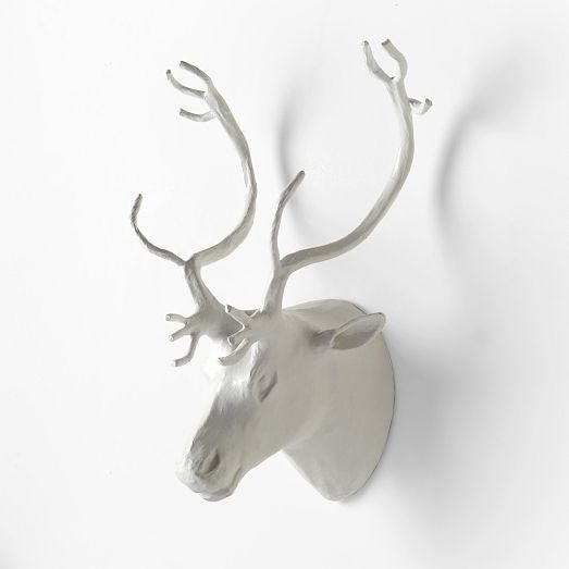 Papier-Mâché Animal Sculptures - Reindeer | west elm