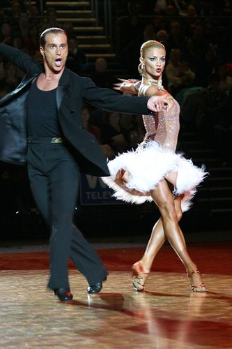 "Yulia and Riccardo, champion Latin dancers.    wearethedancerswecreatethedreams:    ""To dance is to be out of yourself. Larger, more beautiful, more powerful. This is power, it is glory on earth and it is yours for the taking."""