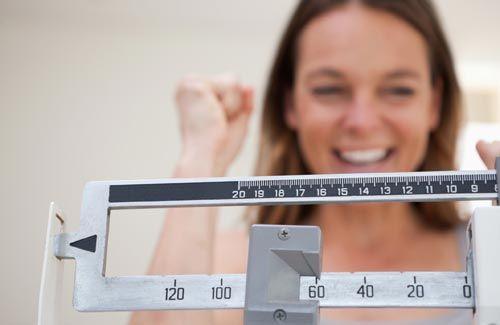 Kvinde med succesfuld vægttab