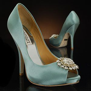 badgley mischka lissa-seafoam seafoam Wedding Shoes