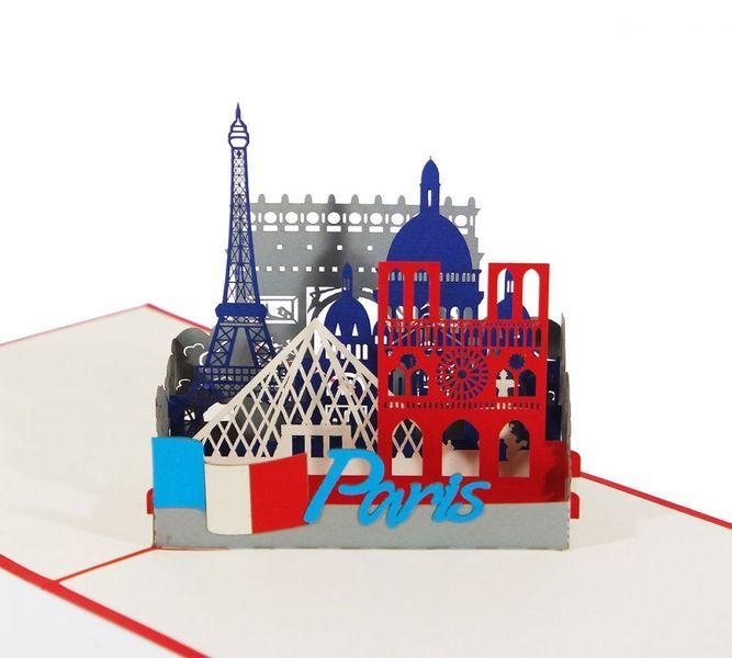 Pop-Up-Karten - Paris Skyline - 3D Karte / Pop-Up / Klappkarte  - ein Designerstück von 3D-Kartenwelt bei DaWanda