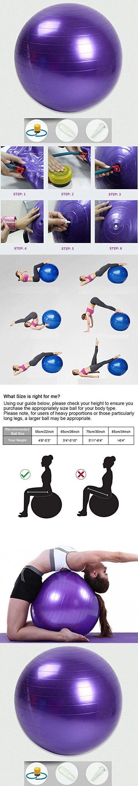 Pilates malibu chair buy malibu chair pilates combo - Dorlaer Exercise Ball Extra Thick Swiss Fitness Yoga Pilate Ball With Pump Plug Kit Anti Burst Balancing Stability Core Cross Training Physical Therapy