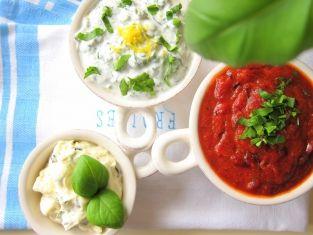 Trzy sosy do dań z grilla: serowy, paprykowy i cytrynowy