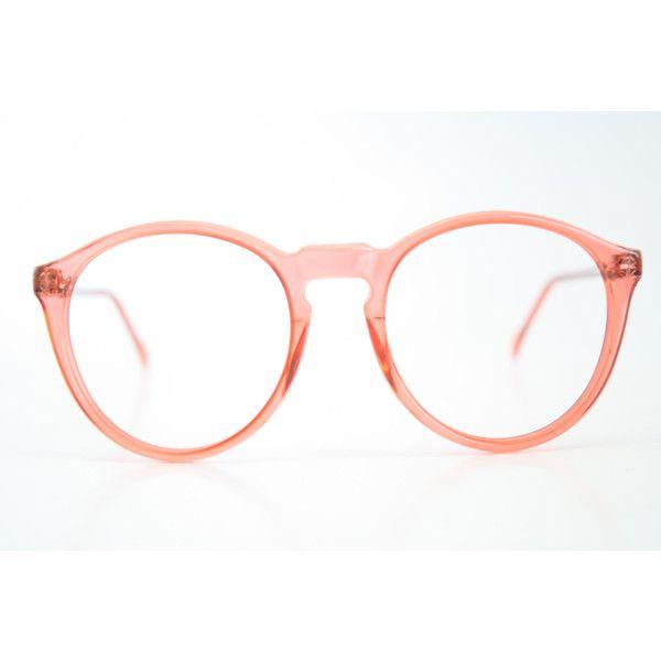 Vintage Glasses Frames Pink P3 Unique Eyeglass Frames Retro Eyeglasses ($54) ❤…
