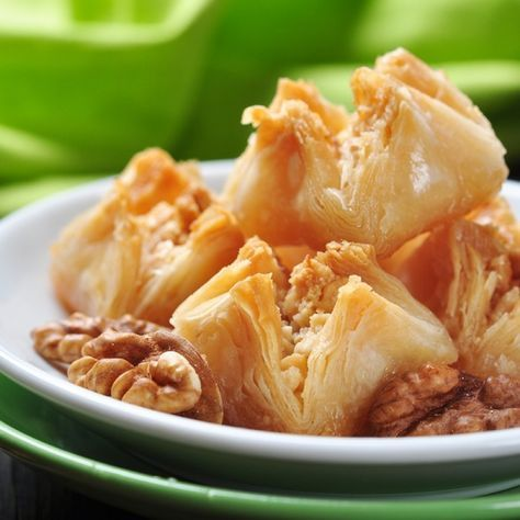 This baklava recipe is made with pre-make phyllo dough, so it is not that difficult to prepare and will dissapear quickly.. Baklava Bites Recipe from Grandmothers Kitchen.