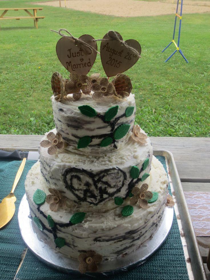 Personalised Cake Topper Rustic Cake Topper Heart by Melysweddings