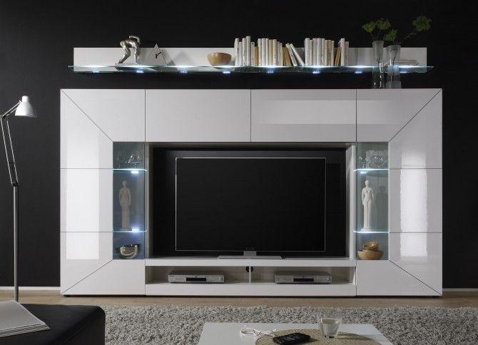 die besten 17 ideen zu wohnwand weiss auf pinterest wandgestaltung schlafzimmer schlafzimmer. Black Bedroom Furniture Sets. Home Design Ideas
