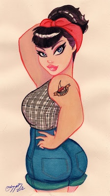 Pin Up girl: Tattoo'S Idea, Plus Size, Curvy Girls, Girls Tattoo'S, Pin Up Art, Pin Up Tattoo'S, A Tattoo'S, Pinup, Pin Up Girls