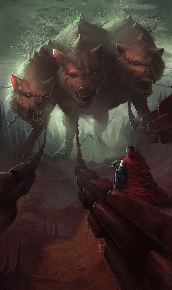 Cerbero por alejdark - Criaturas | Dibujando.net