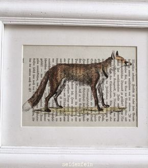 seidenfeins Blog vom schönen Landleben: Fuchs - DIY mit Buchseiten * fox DIY with old book...