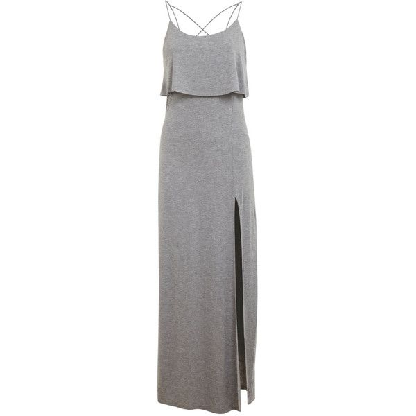Miss Selfridge Double Layer Maxi Dress found on Polyvore