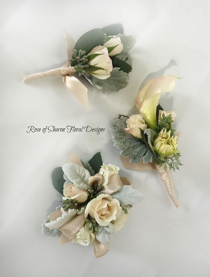 Rose and Calla Lily Boutonniere and Corsages, Rose of Sharon Floral Designs