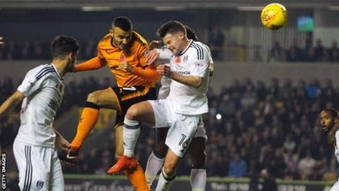 Romain Saiss marked his return to the side with an early headed goal for Wolves  Championship leaders Wolves opened up a four-point lead at the top as they comfortably disposed of Fulham.  First-half  headers by Romain Saiss and Leo Bonatini a 10th goal of the season for  the Championship's top scorer secured a fourth straight home win. Fulham were not without a threat going closest through Kevin McDonald. But Wolves could have won by more at Molineux as Nuno Espirito Santo's men claimed an…